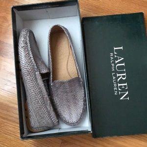 NWT Ralph Lauren Snakeskin Loafers